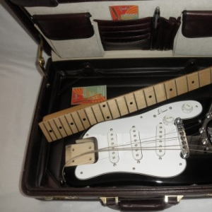 Travel Guitar fits in a briefcase - STROBELCASTER Standard