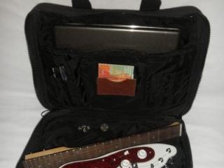 Portable Guitar fits in Computer Bag - White STROBELCASTER