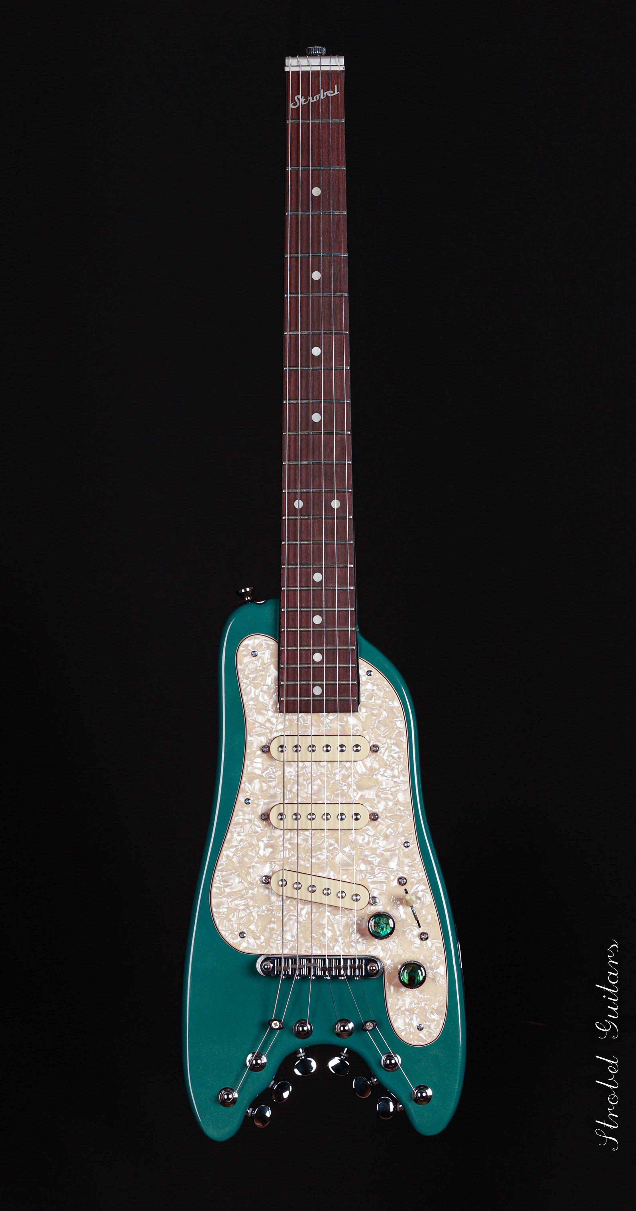 Electric-Travel-Guitar-STROBELCASTER -Sherwood-Green