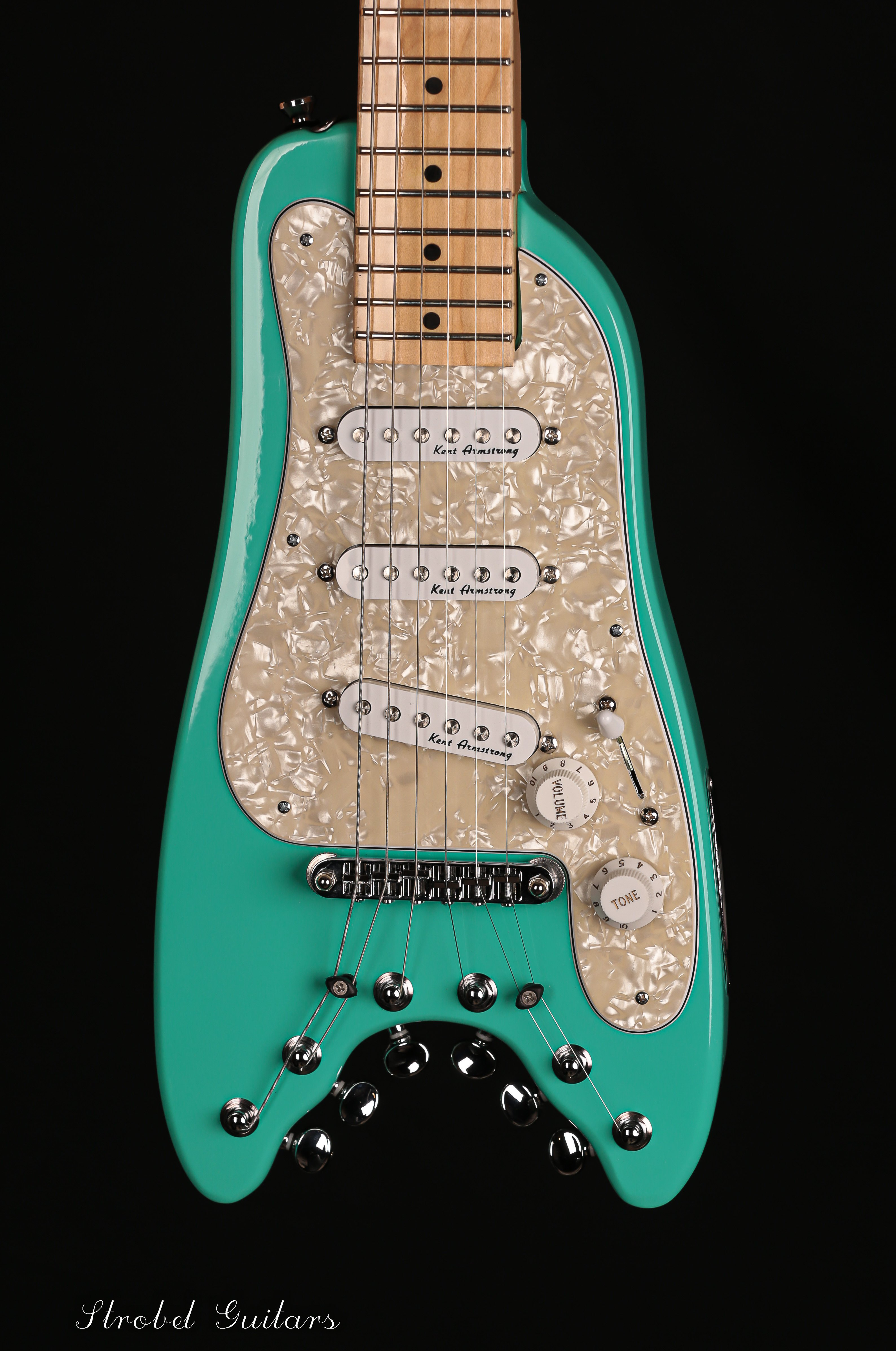 Portable Electric Guitar Sea Foam Green STROBELCASTER Plus
