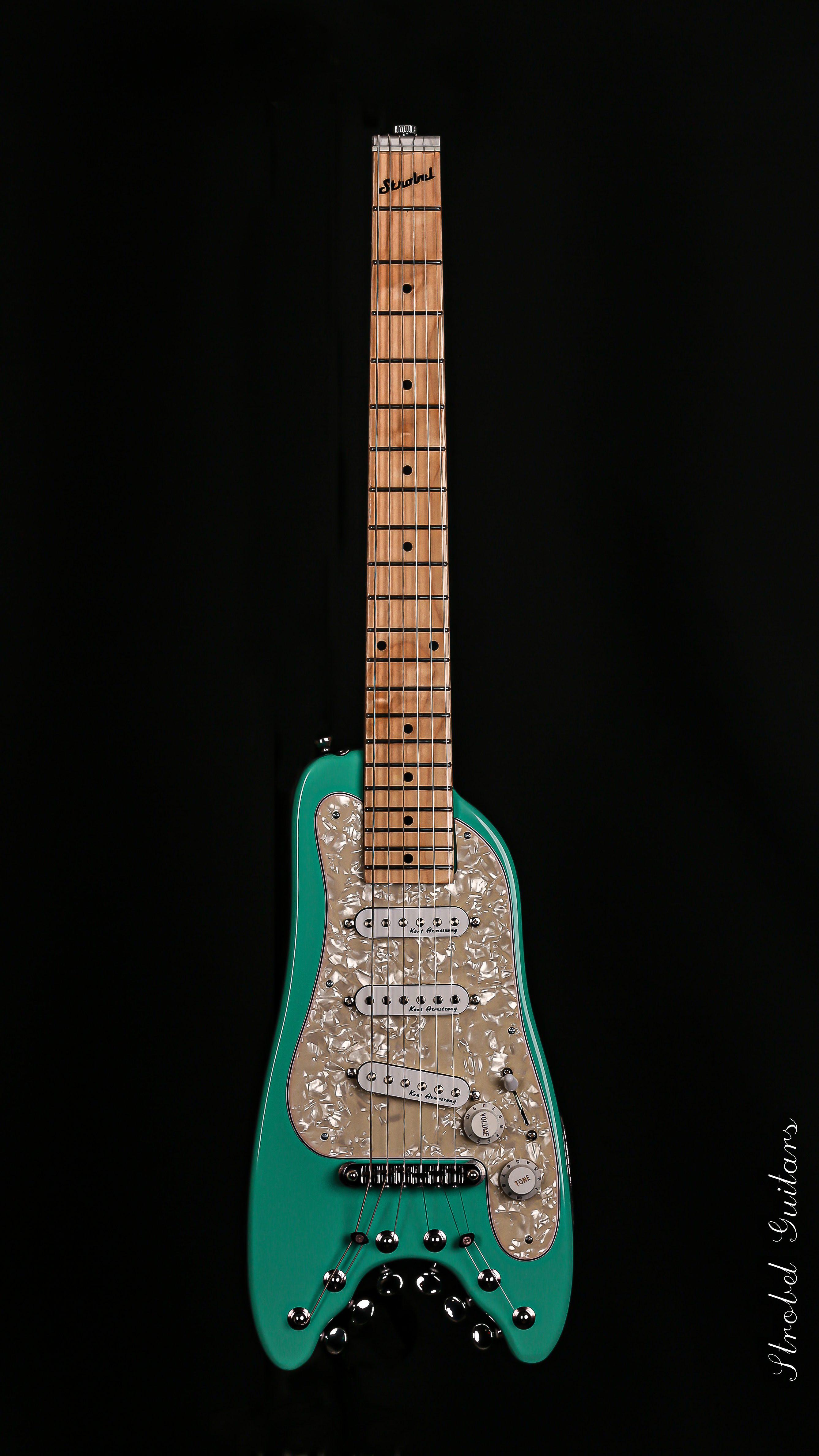 Travel Electric Guitar - STROBELCASTER Plus Sea Foam Green