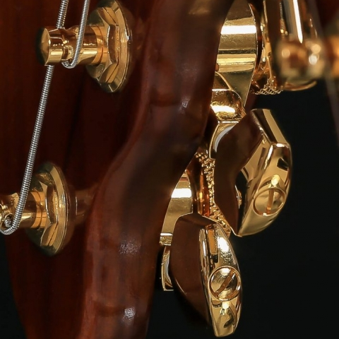 Gold Schaller machine heads on a STROBELCASTER portable guitar