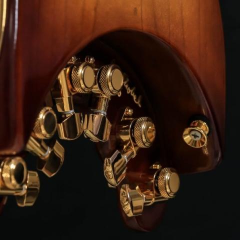 HoneyBurst STROBELCASTER Custom Portable Electric Guitar - signed