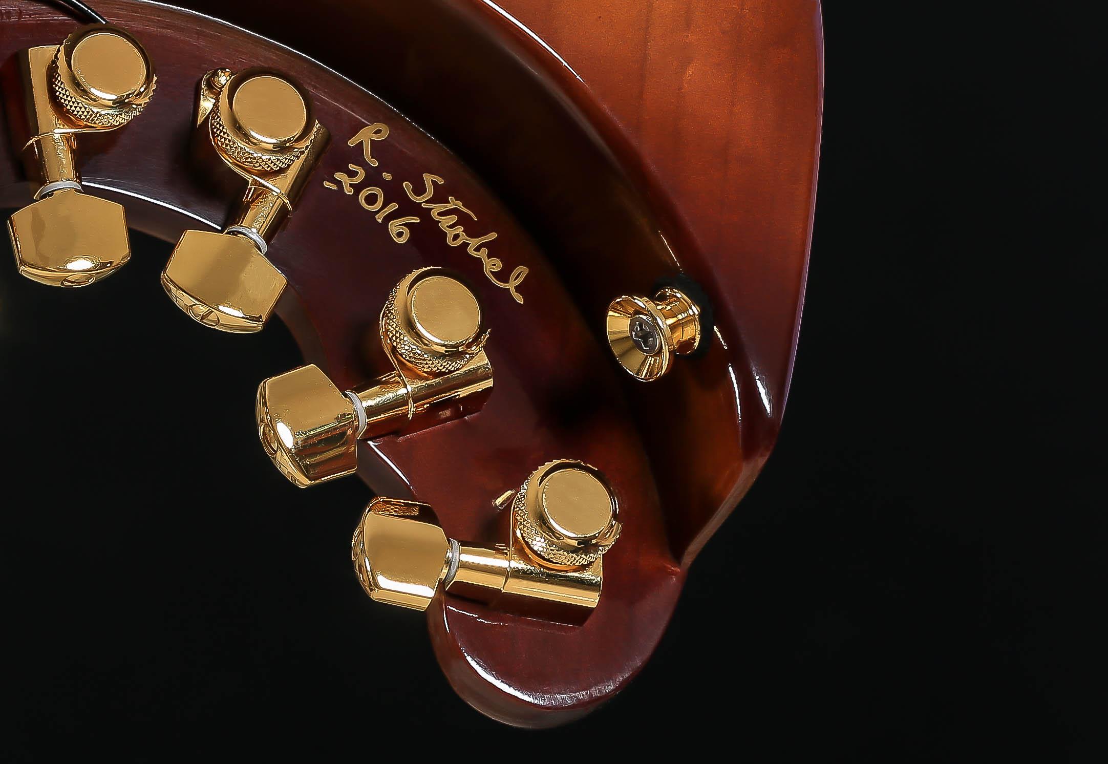 HoneyBurst STROBELCASTER Custom Travel Guitar - signed