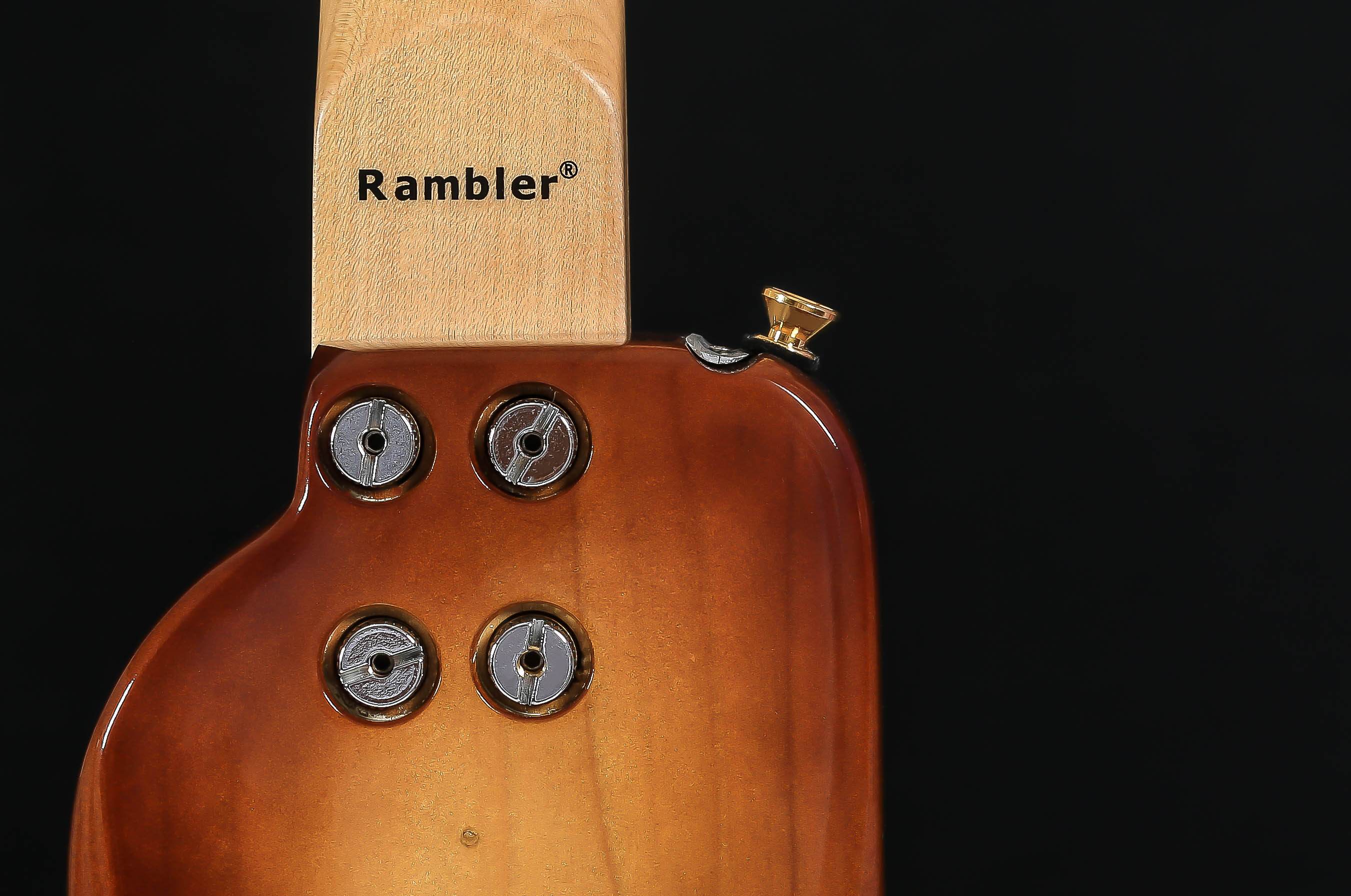 Rambler STROBELCASTER HoneyBurst Portable Guitar with Detachable Neck