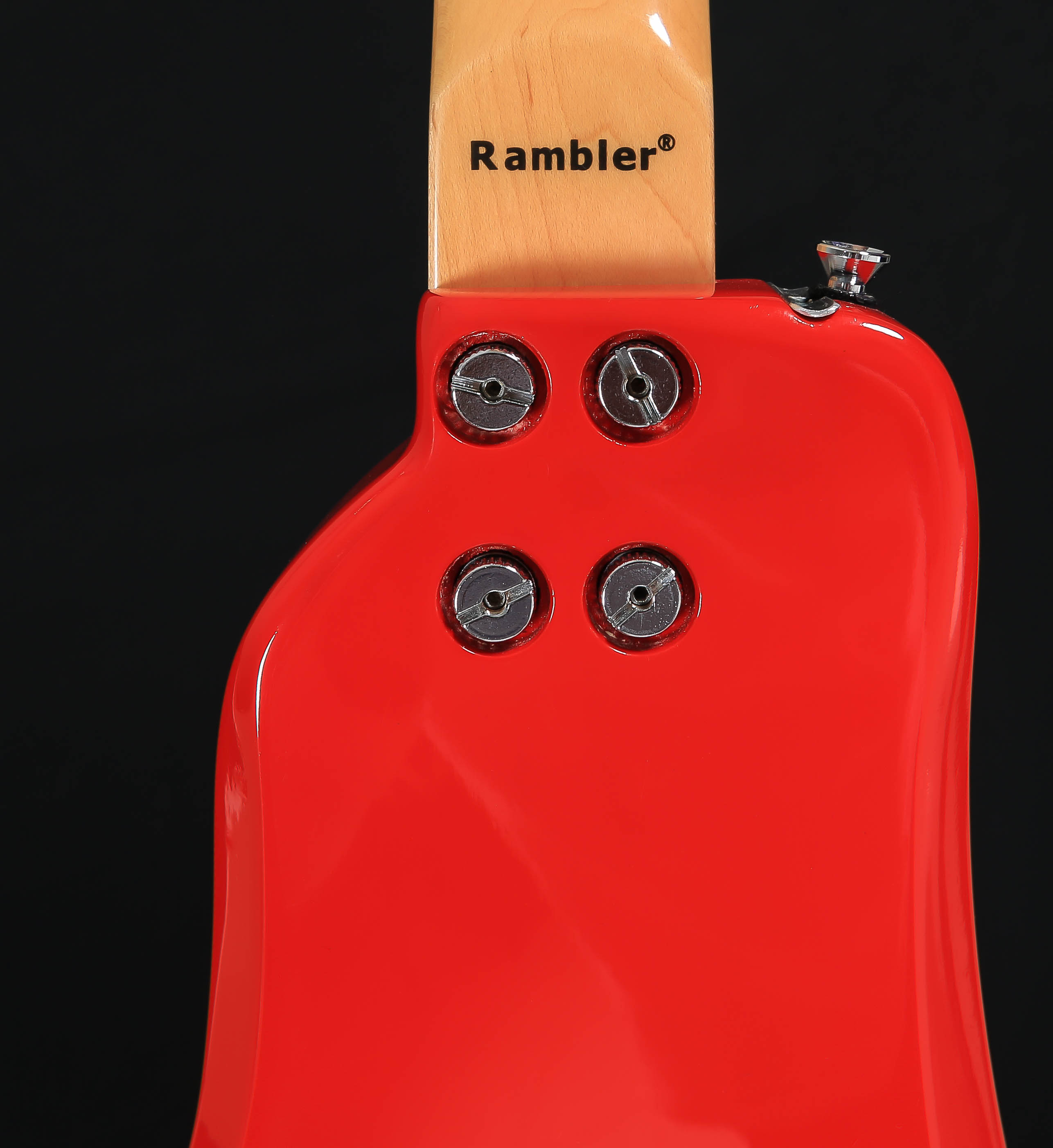 STROBELCASTER Plus Portable Guitar - Dakota Red - Back View