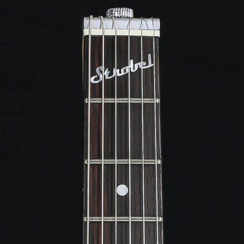 STROBEL logo on Rambler Professional Electric Travel Guitars