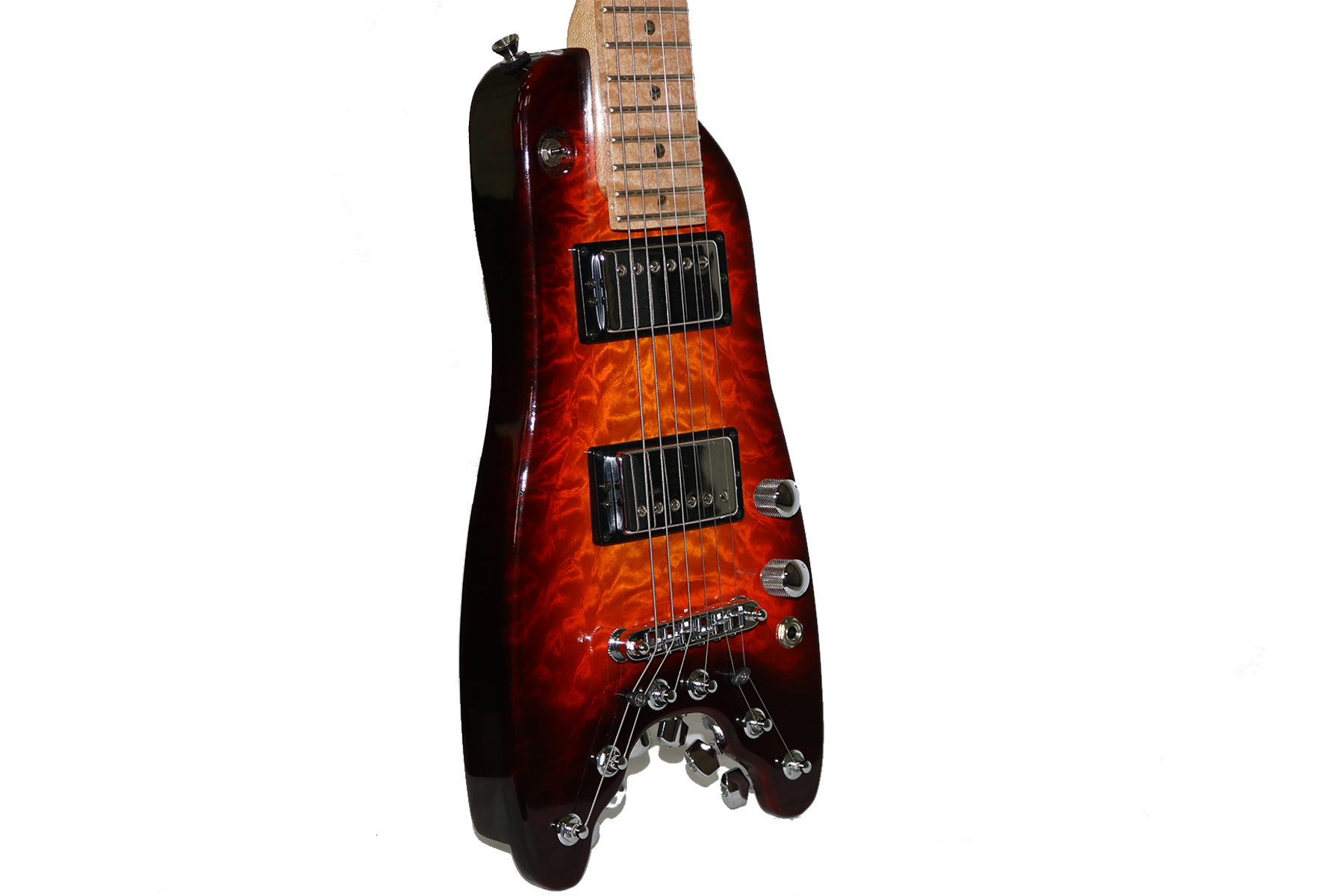 Rambler Custom Travel Guitar - Quilted Maple Top - Three Color Sunburst