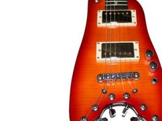 Electric Travel Guitar - Cherry Sunburst Rambler Classic from Strobel Guitars