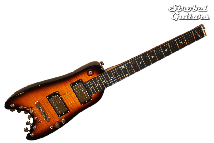 Rambler Classic Electric Travel Guitar - Tobacco Sunburst
