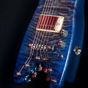 Quilted Maple Top on BlueBurst Rambler Travel Guitar